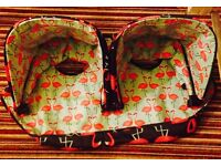 flamingo cosatto spares ( double hood ) Footmuff . Bask and bottle bags un used !!
