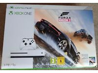 Xbox One S 1TB White Console Inc Forza Horizon 3 - Brand New & Sealed UK PAL