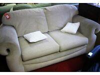 Sofa bed - oatmeal coloured fabric [8465]