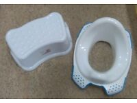 Toilet seat with stool
