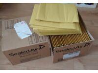 gold Jiffy bags-PADDED ENVELOPES BAGS- 100pcs plus , 2 sizes