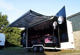 MAKE BEST OFFER & SHE'S YOURS!! LARGE EXHIBITION TRAILER MOBILE MARKET STALL DISPLAY BUSINESS