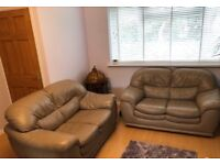 2 x two seater leather sofas. Well looked after, in excellent condition.