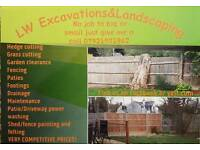 Landscaping and excavations work