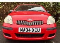 12 MONTHS MOT 2004 TOYOTA YARIS T3 1.0 VVT-I 68 BHP 3 OWNERS FROM NEW GREAT CONDITION