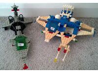 2 Incomplete Vintage Space LEGO Sets Ships