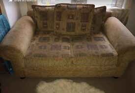 3 seater and 2 seater sofa and foot stool