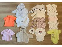 Baby girl clothes 0-3months over 60 items