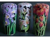 house of dorchester set of three new flower vase tins (mothers day is coming)