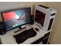 High End Gaming PC Six Cores / 12GB Ram /XFX HD7950/ SDD / Sound System