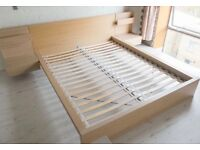 Malm Double Bed with Bedside Tables