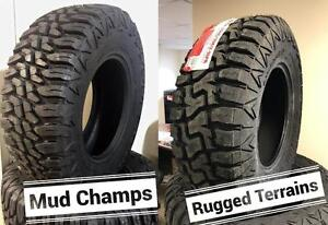 33 + 35`` on 17, 18 and 20`` E Load Range 10 ply TIRES!! Mud and Snow rated!! FREE INSTALL