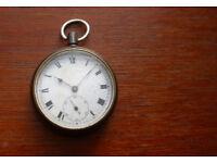 Swiss made gunmetal repeater pocket watch.