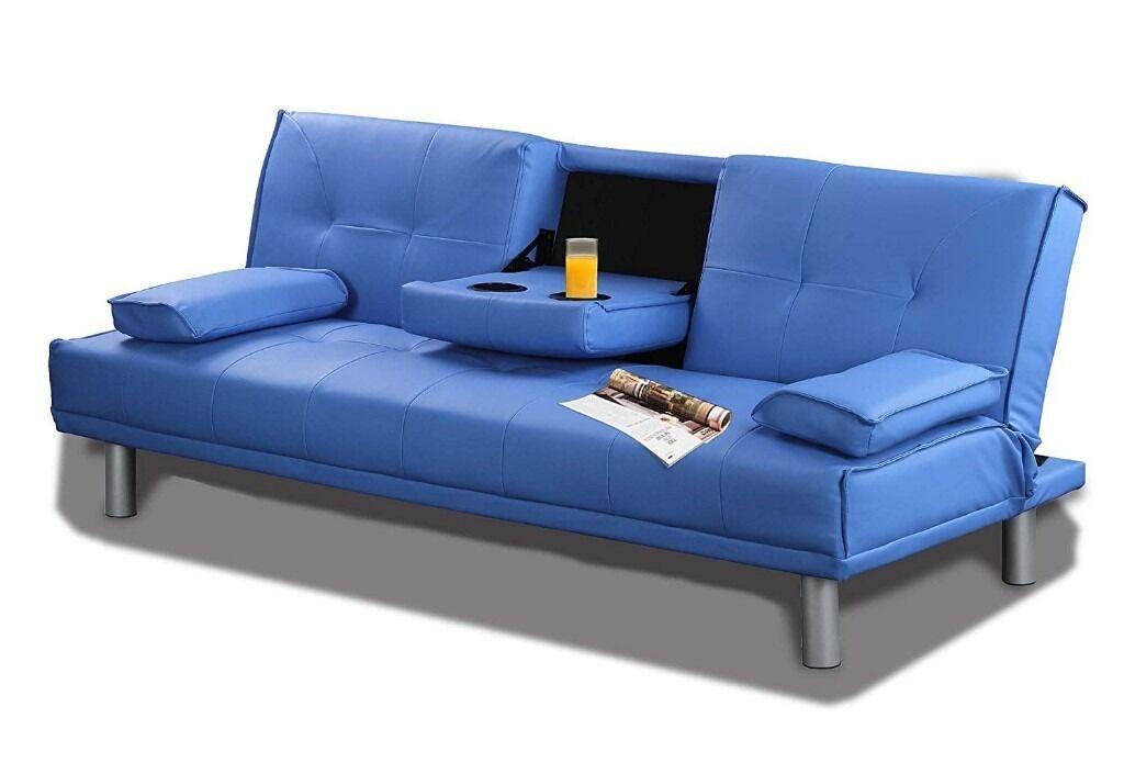 New designer denver bluetooth faux leather sofa bed with for Denver sofa bed