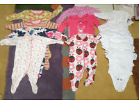 Joblot Baby Girl Clothes Upto 1 Month