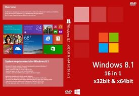 Windows 8.1 32 & 64bit Operating System Recovery Repair Restore Boot Disc (16 in 1)