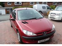 2001 Peugeot 206 1.4 LX (A/C), 5 Dr, long MOT, FSH, just 69k & 2 owners from new.