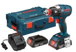 NEW Bosch IDH182-02L 18-volt Brushless Socket Ready Impact Driver with 2.0Ah Batteries