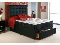 ***SALE SALE SALE NEW DOUBLE DIVAN BED WITH STORAGE ONLY £199 SALE SALE SALE***