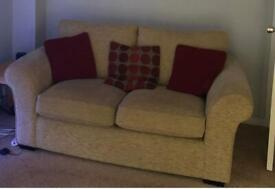 A 2 and 3 seater settee