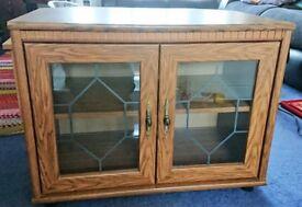 Wooden TV Corner Unit