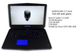ALIENWARE 17 R2, NVIDIA GeForce GTX 980M,17.3-in FHD anti-glare, quad core i7 turbo  3.5GHZ 16GB ,256GB SSD ,750GB HDD