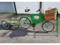 BUTCHERS BIKE and TRAILER * TV FILM PROP CAFE SHOP BISTRO ADVERTISING WEDDINGS SHOW PUB RESTAURANT