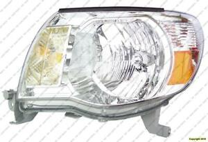 Head Light Driver Side Without Sport Package Toyota Tacoma 2005-2011