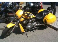 STOLEN HARLEY-DAVIDSON V-ROD YELLOW REWARD 10,000 GBP if returned