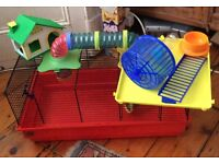 Large Hamster Cage and Accessories.