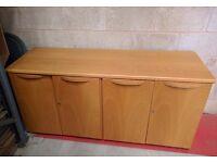 Wooden 4 door office unit