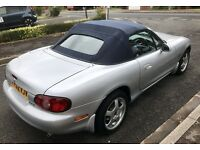 2002 Mazda mx5 1.8i Converible, 80500 miles, 6 months MOT, Excellent condition for year.