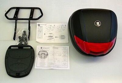 ORIGINAL Peugeot SPEEDFIGHT 3 4 ZUBEHÖR Kit Top Case 30l + Gepäckträger A02001DE
