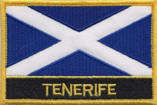 Spain Canary Islands Tenerife Flag Embroidered Patch - Sew or Iron on