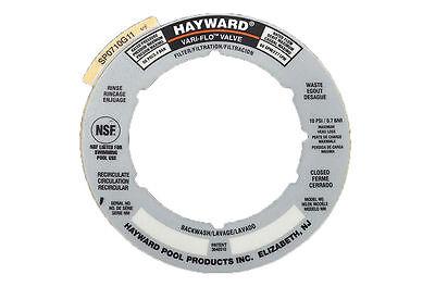 Hayward Sand Filter Valve Label Plate Sticker part # SPX0710G