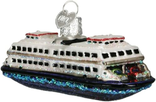 Old World Christmas FERRY (46046)N Glass Ornament w/ OWC Box