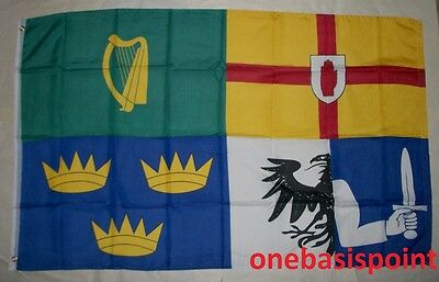 3'x5' Irish Provinces Flag Leinster Ulster Munster Connacht Ireland Banner 3x5