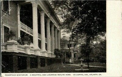 1907. ATLANTA, GA. ROBERTSON SANITARIUM. ON CAPITOL AVE. POSTCARD (Robertson Ave)
