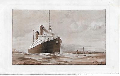 CUNARD RMS CARMANIA AND CARONIA UNUSED POSTCARD CIRCA 1910's   REF148