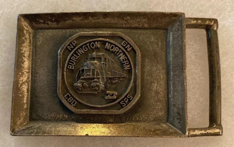Burlington Northern Belt Buckle Railroad Railway Train Transportation NP GN SPS