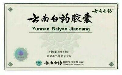 Yun Nan Baiyao Capsules - 1 Box - Authentic - 16 Capsules - US Seller