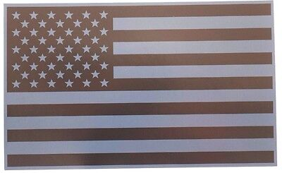 REFLECTIVE SUBDUED AMERICAN FLAG FIRE HELMET DECAL 2