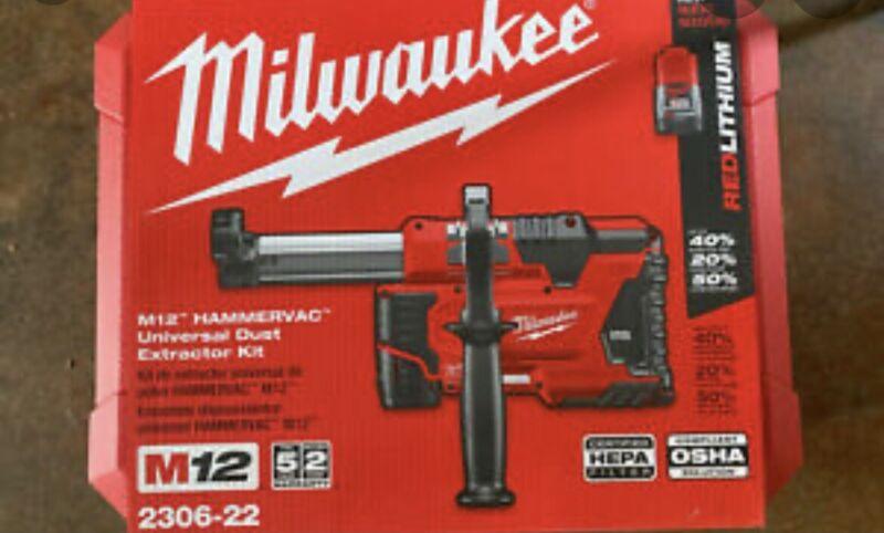 Milwaukee 2306-22 12V Cordless HammerVac Universal Dust Extractor Kit