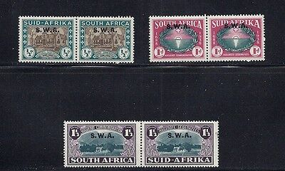 South West Africa 1939 Huguenot Pairs Vf Mh
