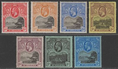 St Helena 1912 King George V Part Set to 2sh Mint