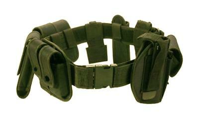 OD GREEN POLICE SECURITY MODULAR EQUIPMENT SYSTEM DUTY BELT Molded Nyon Sheriff