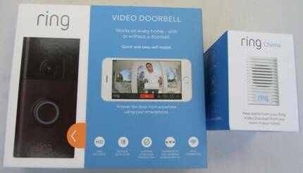 RING VIDEO DOORBELL and RING CHIME