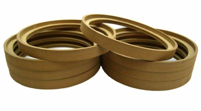 "8 Pack 10"" MDF Speaker Ring Recessed w/ Bezel Custom Car Audio Fiberglass Mold"