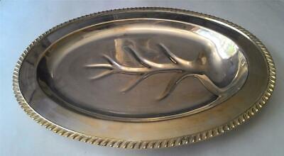 Vintage Sheets Rockford S.Co 1875 Silverplate Serving Platter #1204