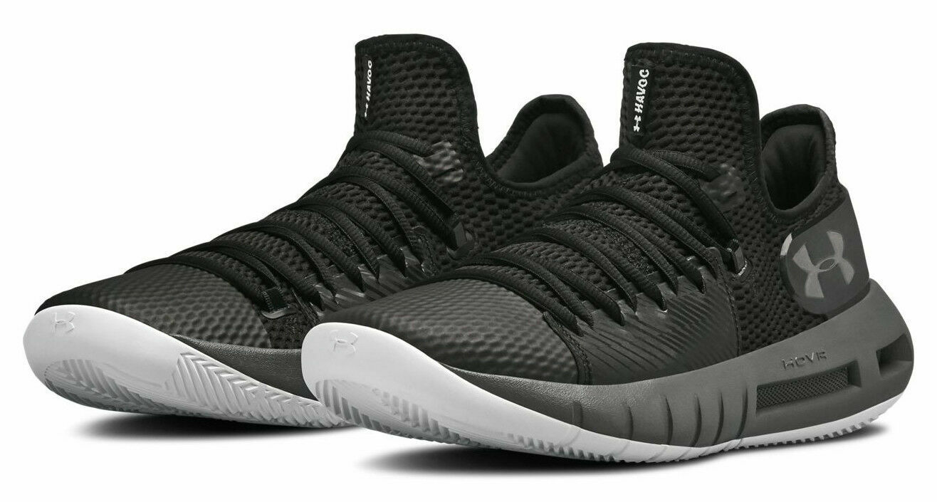 best sneakers fad11 3b48b Under armour HOVR Havoc Low Men's Basketball Shoes - Black/Graphite, Size 11